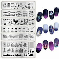 BORN PRETTY Nail Art Stamping Plates Halloween Ghost Nail Stamp Image Templates