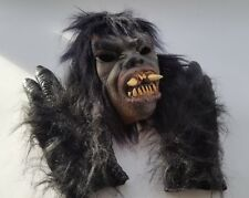 Halloween mask and gloves very scary. Fancy dress costume. Dressing up Beast man