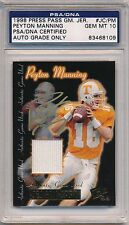 1998 Press Pass Peyton Manning ROOKIE RC Game Used Jersey GOLD AUTO PSA 10 Colts