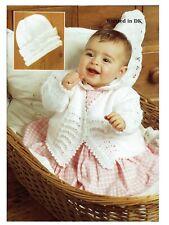 Baby 3 años Cardigan con Girl y sombrero de tejer patrón dk 16-22 Pulgadas-no 1