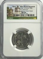 2019 W NGC MS64 FIRST RELEASES TEXAS SAN ANTONIO MISSIONS QUARTER GREAT AMERICAN