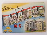 Raleigh North Carolina USA 18 Color Illustrations Souvenir Folder Vintage 1945