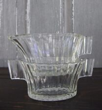 Vintage Queen Mary Open Sugar & Creamer Clear Depression Glass Anchor Hocking
