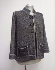 Gorgeous Goat Library cardigan monochrome big button thick 100% cotton UK12 US8