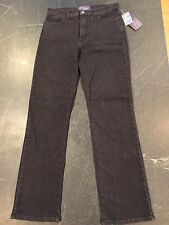 Not Your Daughters Jeans NYDJ Womens Black Rhinestone Size 8 Tummy Tuck NWT