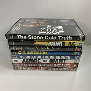 WWE DVD Bundle - 8 X Documentaries - Stone Cold, Cena, Mankind, Andre The Giant