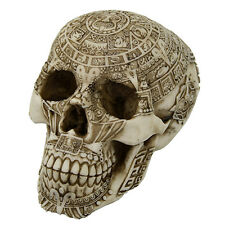 AZTEC TRIBAL CHIEF HEAD SKULL SKELETON FIGURINE STATUE HALLOWEEN