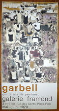 Garbell lithographie art abstrait 1970 abstraction Galerie Framond Guillard Imp