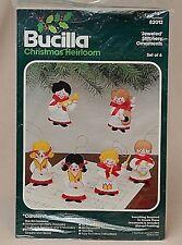 Vintage Bucilla Jeweled Stitchery Felt Ornaments Christmas Heirloom Kit   82012