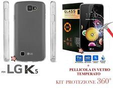 COVER + PELLICOLA VETRO TEMPERATO PER LG K5 X220DS CUSTODIA CASE + GLASS
