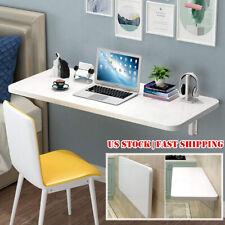 Folding Wall Mounted Desk Small Wall Drop-Leaf Table PC Computer Desk Bookshelf