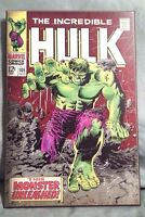 """Marvel The Incredible Hulk #105 Wooden Wall Art Poster Plaque NWT 19"""" x 13"""" NEW"""