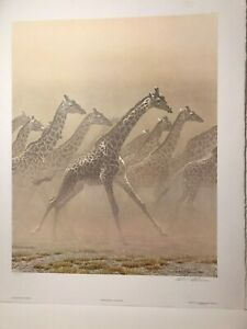 Robert Bateman Galloping Giraffe (950 Edition print)
