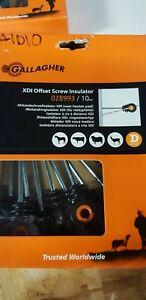 A1D10 Gallagher Distance Screw Insulator XDI offset insulator  10 Pack G028993