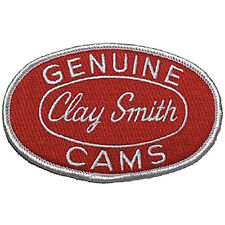 genuine Clay Smith Cams Patch Badge Hot Rod Drag Race Racing red white