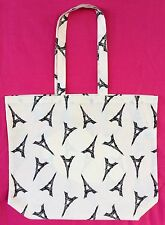 Thin Calico Eiffel Tower Print Grocery/Shopping Bag