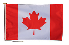 More details for canada flag with rope and toggle - various sizes