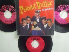 LOT OF 4 THE MARATHONS/OLYMPICS HIT 45's+1P(Copy)[Peanut Butter]  THE 50's&60's!