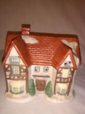 1991 Christmas Village Town Gads Hall National Decorations Ceramic Vintage House