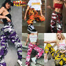 Womens Camo Cargo Trousers Casual Pant Military Army Combat Camouflage Jeans USA