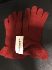 Club Monaco Winter Ruffle Gloves Red 100% Lambswool, New With Tag