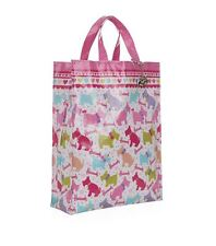 HARRODS WEST HIGHLAND TERRIER DESIGN PINK MEDIUM TOTE BAG -FREE WESTIE KEYRING