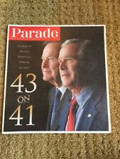 Parade Magazine Nov 16, 2014 George W Bush 43 On 41 Tribute George H. W. Bush
