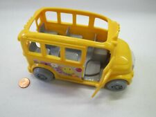 FISHER PRICE Sweet Streets Dollhouse YELLOW SCHOOL BUS for Schoolhouse Rare!