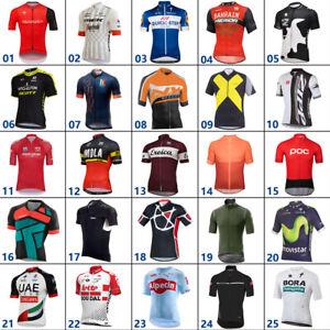 Men's Retro Cycling Jersey Short Sleeve Road  MTB Racing Bicycle Team Top Shirt