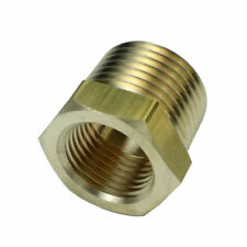 "1/2"" BSPT Male * 3/8"" Female NPT Adapter Brass Pipe Fitting Reducing Bushing"