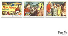 Pony Soldier Lobby Card Set of 3 - Title Card - Tyrone Power - 1952 - VF