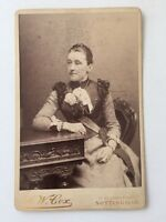 Large Victorian Cabinet Card Photo (CDV) Lady: AW Cox: Nottingham