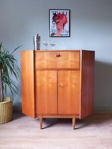 Mid Century Vintage Retro Teak Corner Cabinet / Bar 1960s 70s