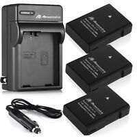 EN-EL14 Battery + Charger for Nikon D5300 D3200 D3300 D3100 D5200 Coolpix P7000