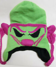 NEW ICP Insane Clown Posse RIDDLE BOX pink green Knit Laplander BEANIE
