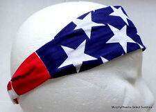 Usa Red White Blue Stars & Stripes Patriotic Headbands One Size Free Shipping