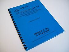 Triad Controls Xc4202 Superlight Vi Infrared Light Curtain Installation Manual
