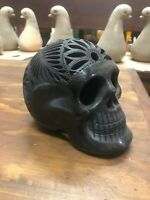 Day of The Dead Catrina Candy Sugar Skull Mexican BLACK CLAY NEW