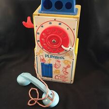 Playskool Pay And Play Doorknob Rotary Dial Telephone Toy #488 Vintage 1960's