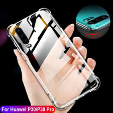 Shockproof Crystal Clear Soft Silicone Bumper Case Cover For Huawei P30 Pro Lite