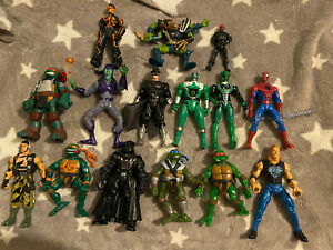 Action Figure Bundle Joblot Turtles, Spider-Man, Vader, Star Wars, Power Rangers