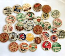 A Mixed Lot of 60 Old & Authentic Milk Bottle Caps -