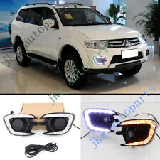 LED Daytime Running Lamp&Yellow Turn Signal k For Mitsubishi Pajero Sport 13-15