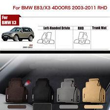 "Full Set 1/2""Thick Solid Nylon Interior Floor Carpet Mats For RHD BMW X3/E83 03+"