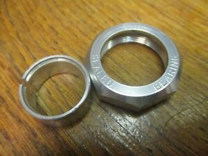 """CHRIS KING 1"""" THREADED HEADSET LOCK NUT - SILVER ANODIZED"""