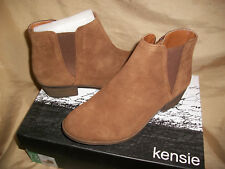 womens size 8  KENSIE Garry  Suede-Leather  Ladies Ankle Zipper Boots  Brown