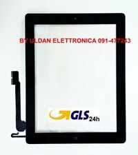TOUCH SCREEN Apple iPad 4 A1458 A1459 A1460 WiFi e 3G VETRO + Tasto Home Nero