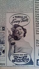 JULY 29, 1943 NEWSPAPER PAGE #J5879- PEPSI-COLA- A THRILL FOR EVERY TASTE