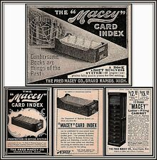4 Early Macey Card Index Letter File Cabinet Office Furniture Print Ads Web