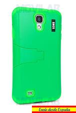 Funda Samsung I9505 / I9500 Galaxy S4 protectora / bumper  soporte verde fluor